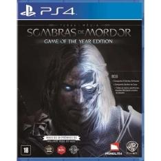 Game Terra Média: Sombras de Mordor Game Of The Year PS4 por R$ 35