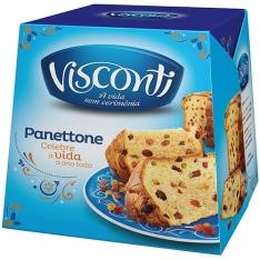 Panettone Frutas Visconti ou Chocottone- 500g + fretinho para Sp por R$ 9