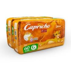 120 Fraldas Hiper G Capricho Rei Leão - R$65