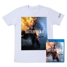 Jogo Battlefield 1 PS4 OU XBOX ONE + Camiseta Exclusiva Battlefield 1  POR R$100