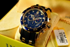 Invicta Men?s 6983 Pro Diver Collection Chronograph Blue Dial Black Polyurethane Watch