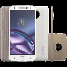 """[1x Cartão Submarino] Smartphone Moto Z Power Edition Dual Chip Android 6.0 Tela 5,5"""" 64GB Câmera 13MP - Branco - R$2079,20"""