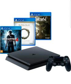 [AMERICANAS]-Console PS4 Slim 500G+3 Jogos+Controle-R$ 1.499,99 CC AMERICANAS