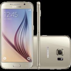 """Samsung Galaxy S6 32GB 4G Android 5.0 Tela 5.1"""" Câmera 16MP - Dourado - R$ 1.529,10 em 1x no cartão Submarino"""