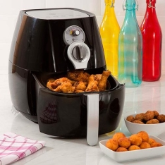 Fritadeira sem Óleo Fun Kitchen Fritalight Retrô 3L Preta com 2 Anos de Garantia (Cód. 123100044)