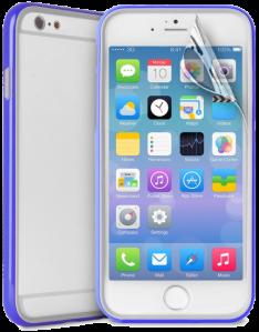 Bumper Flexível Para iPhone 6 Plus Com Película Protetora Azul - Puro  por R$ 2