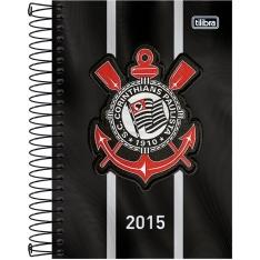 Agenda Corinthians Preta com Listras Brancas 2015 - Tilibra Por: R$ 0,89