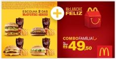 2 McOfertas Médias + 1 McLanche Feliz por R$ 50