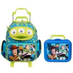 Kit Toy Story - Mochilete de rodinhas + Lancheira Azul - Dermiwil - R$104