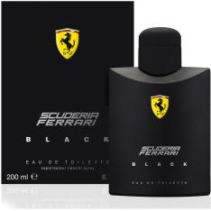 FERRARI PERFUME MASCULINO SCUDERIA BLACK EDT 200ML por R$ 167