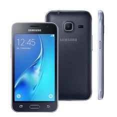 """Smartphone Samsung Galaxy J1 Mini Duos Preto com Dual Chip, Tela 4.0"""", 3G, Câmera de 5MP, Android 5.1 por R$ 349"""