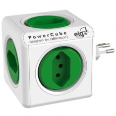 Adaptador Multiplo PowerCube ELG com 5 Tomadas - Bivolt - PWC-R5 por R$ 54