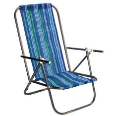 Cadeira De Praia Botafogo Cad0049 2 Posições Aço - Diversas Cores