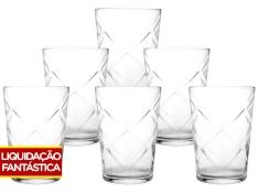Jogo de Copos Vidro 6 Peças - 280ml Nadir Maracatu por R$ 6
