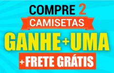 CAMISETAS PERSONALIZADAS - COMPRE 2 E GANHE 1 + FRETE GRÁTIS