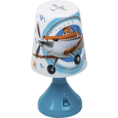 Abajur Infantil Aviões LED Projeta Desenho no Teto - R$ 19,79