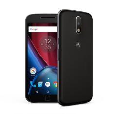 """Moto G4 Plus Preto Motorola com Tela de 5,5"""", 4G, 32 GB e Câmera de 16 MP - por R$ 1112,21"""