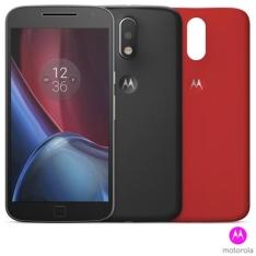 """Moto G4 Plus Preto Motorola com Tela de 5,5"""", 4G, 32 GB  por R$ 1070"""