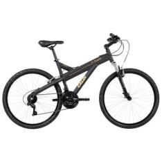 Bicicleta Caloi T-Type, Aro 26, 21 marchas, Quadro em alumínio, Suspensão Dianteira por R$799