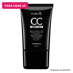 CC Cream 7 em 1 Make B, 30ml - R$39