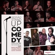 Sábado 14/01 23h45: Stand Up com Renato Tortorelli, Victor Camejo, Chesmam Padim e Daniel Pinheiro