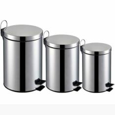 Kit Lixeiras em Inox c/ capacidade de 3L ,5L e 12L por R$100