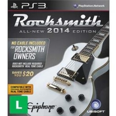 Jogo Rocksmith 2014 versão sem Cabo - PS3 - R$40