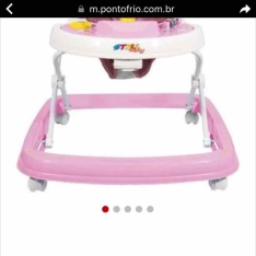 Andador Styll 32432 - Rosa/Branco por R$69