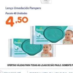 [Assaí/Loja Física] Toalhinhas Pampers - R$4,50