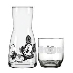 Conjunto Moringa e Copo em Vidro Nadir Disney Mickey Alegria 2 Peças - R$ 16,90