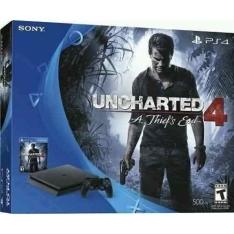 Console Playstation 4 500gb Slim + Jogo Midia Física - Uncharted 4 (Em Português) - R$ 1358