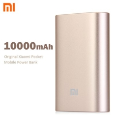 Original Xiaomi Pocket 10000mAh Mobile Power Bank  -  GOLDEN por R$ 55