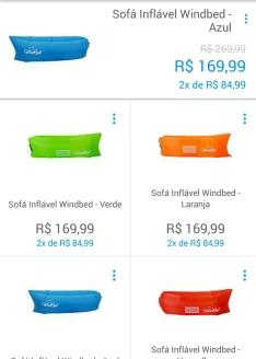 Sofá Inflável Windbed por R$ 170