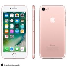 iPhone 7 Ouro Rosa com Tela de 4,7, 4G, 32 GB e Camera de 12 MP - MN912BZ/A - AEMN912BZARSA