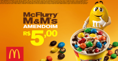 McFlurry M&Ms Amendoim R$5,00