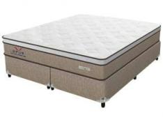 Cama Box Queen Size (Box + Colchão) Plumatex Mola - Pocket 65cm de Altura Ópus - R$665