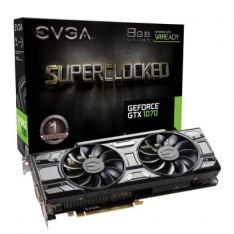 Placa de Vídeo EVGA GeForce GTX 1070 SC Gaming 8GB 08G-P4-5173-KR por R$ 1836