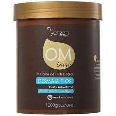 Yenzah OM Ouro Máscara de Hidratação Desmaia Fios - Máscara de Tratamento 1000g  por R$ 39