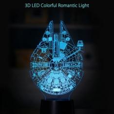3D LED Colorful Romantic Light Lamp  -  ROUND  TRANSPARENT  por R$38