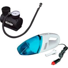 Kit Compressor De Ar + Aspirador Automotivo - Naveg por R$ 50
