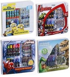 Maleta de Pintura Square Minions - 51 Peças  por R$ 28