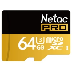 Cartão Micro Sdxc 64gb U3 Netac P500 80 Mb/s Video 4k E 3d