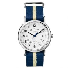 [RICARDO ELETRO] Relógio Masculino Timex, Analógico, Bicolor, Pulseira de Nylon, Caixa de 3,8cm, Resistente à Água 3 ATM