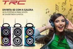Caixa de Som Amplificada TRC USB 25W Bluetooth 218B por R$ 90