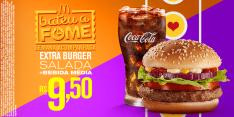 Extra Burger Salad + Bebida Média por R$ 10