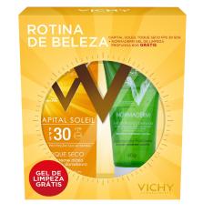 Kit Vichy Protetor Solar Capital Soleil FPS 30 + gel de limpeza Normaderm 60g - R$45,90
