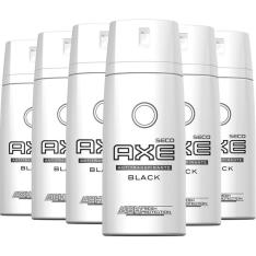 Kit com 6 Desodorantes Antitranspirante Aerosol  AXE Black 152ml