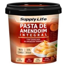 Pasta de amendoim com granulado de amendoim torrado 500g - Supply life