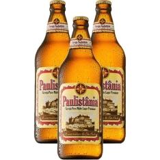 Kit com 3 Cervejas Puro Malte Lager Premium Paulistania 600ml por R$ 22