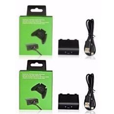 Kit Com 2 Baterias Carregador Usb Para Controle Xbox One por R$ 40